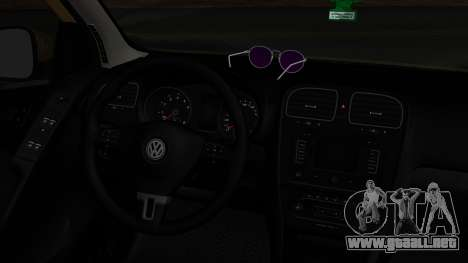Volkswagen Golf 6 para GTA San Andreas vista posterior izquierda