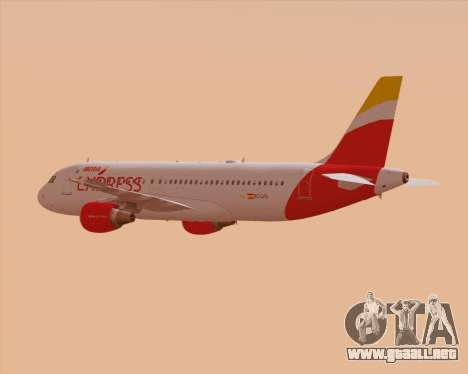 Airbus A320-200 Iberia Express para las ruedas de GTA San Andreas