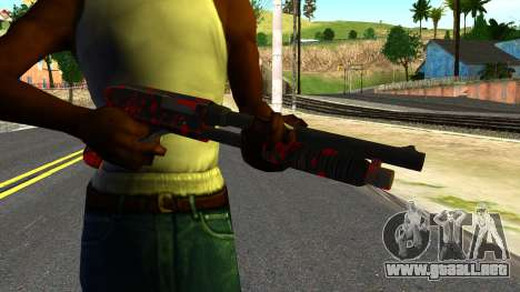 Shotgun with Blood para GTA San Andreas tercera pantalla