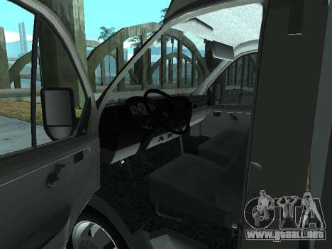 GAZel 3302 para GTA San Andreas vista hacia atrás