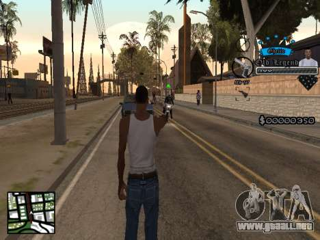 C-HUD Old Legend para GTA San Andreas segunda pantalla