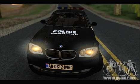 BMW 120i USA Police para GTA San Andreas