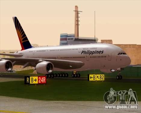 Airbus A380-800 Philippine Airlines para la visión correcta GTA San Andreas