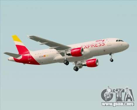 Airbus A320-200 Iberia Express para GTA San Andreas vista hacia atrás