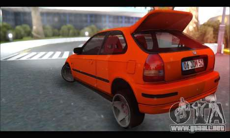 Honda Civic HB (JDM Family) para GTA San Andreas vista posterior izquierda