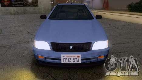 GTA V Ingot para GTA San Andreas vista posterior izquierda