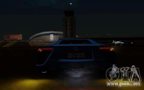 Lexus LF-A 2010 para la vista superior GTA San Andreas