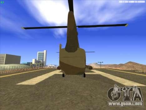 GTA 5 Cargobob para GTA San Andreas vista posterior izquierda