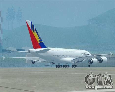 Airbus A380-800 Philippine Airlines para la vista superior GTA San Andreas
