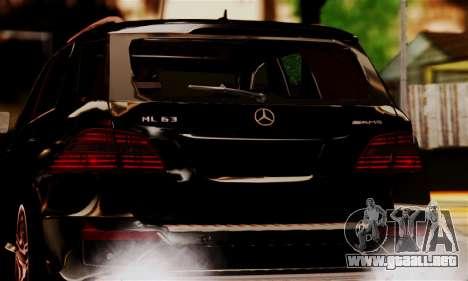 Mercedes-Benz ML63 AMG para GTA San Andreas vista hacia atrás