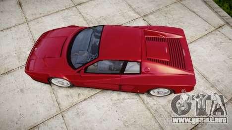 Ferrari Testarossa 1986 v1.2 [EPM] para GTA 4 visión correcta