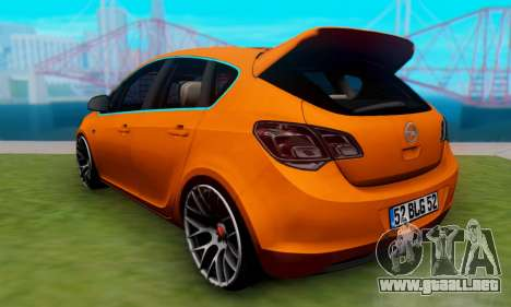 Opel Astra J Team para GTA San Andreas left