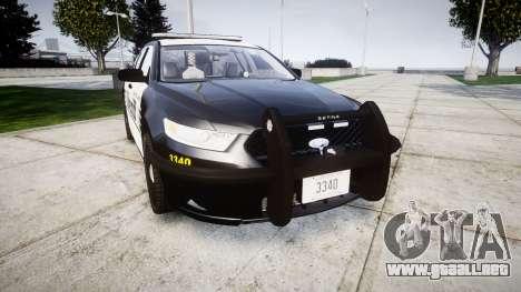Ford Taurus 2014 County Sheriff [ELS] para GTA 4