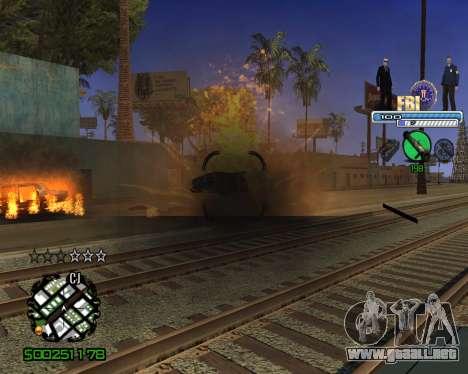 C-HUD FBI para GTA San Andreas sucesivamente de pantalla