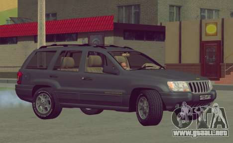 Jeep Grand Cherokee WJ para visión interna GTA San Andreas