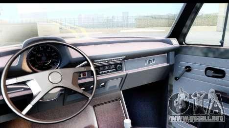 Volkswagen Beetle Vosvos 1973 para la visión correcta GTA San Andreas