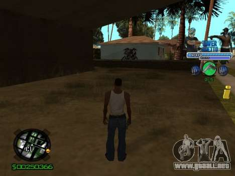 С-Hud Tawer-Gueto v1.6 el Clásico para GTA San Andreas segunda pantalla