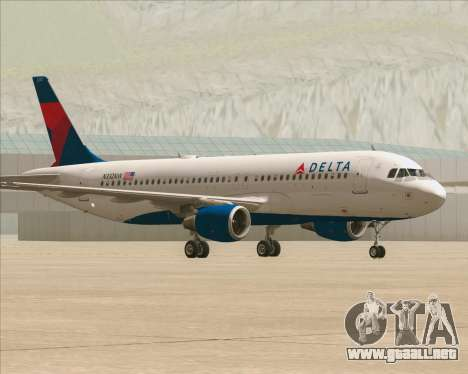 Airbus  A320-200 Delta Airlines para GTA San Andreas left