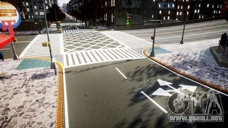 La textura de carreteras de alta definición de 2 para GTA 4 adelante de pantalla