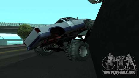 La nueva física de los coches v2 para GTA San Andreas sucesivamente de pantalla