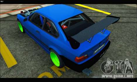 BMW e36 Drift Edition Final Version para GTA San Andreas left