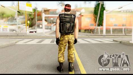 Counter Strike Skin 1 para GTA San Andreas segunda pantalla