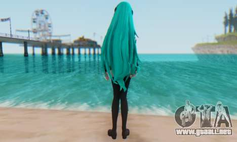 Miku Hatsune MMD para GTA San Andreas segunda pantalla