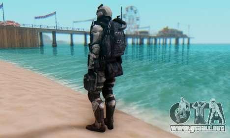 C.E.L.L. Soldier (Crysis 2) para GTA San Andreas tercera pantalla