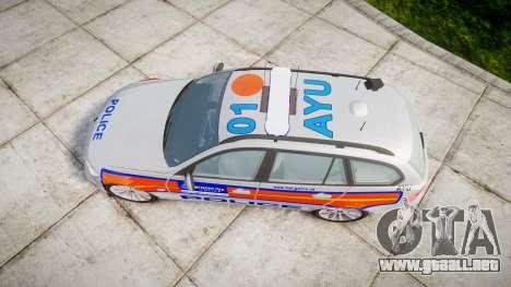 BMW 325d E91 2009 Metropolitan Police [ELS] para GTA 4 visión correcta