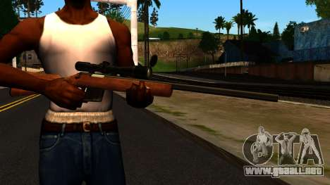 Rifle from GTA 4 para GTA San Andreas tercera pantalla
