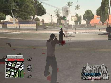 C-HUD Unique v4.1 para GTA San Andreas quinta pantalla
