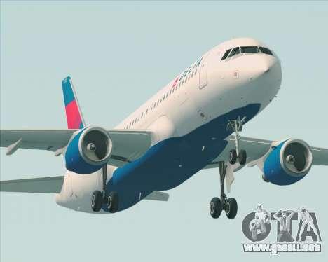 Airbus  A320-200 Delta Airlines para las ruedas de GTA San Andreas
