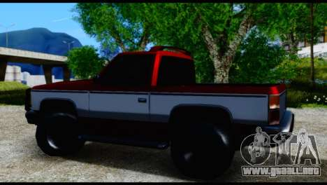 Rancher Hunter para GTA San Andreas vista posterior izquierda