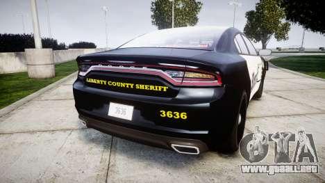 Dodge Charger 2015 County Sheriff [ELS] para GTA 4 Vista posterior izquierda