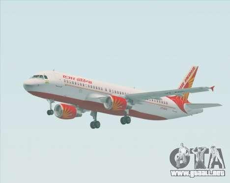 Airbus A320-200 Air India para visión interna GTA San Andreas