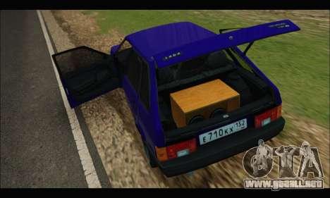 VAZ 2109 BPAN para la visión correcta GTA San Andreas