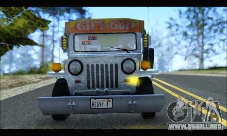 Sarao Stainless para GTA San Andreas vista posterior izquierda