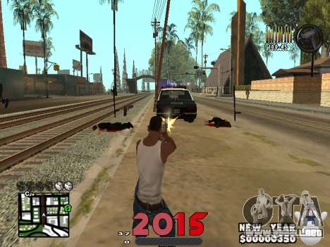 CLEO HUD New Year 2015 para GTA San Andreas tercera pantalla
