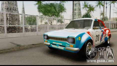 Ford Escort Mark 1 1970 para la vista superior GTA San Andreas