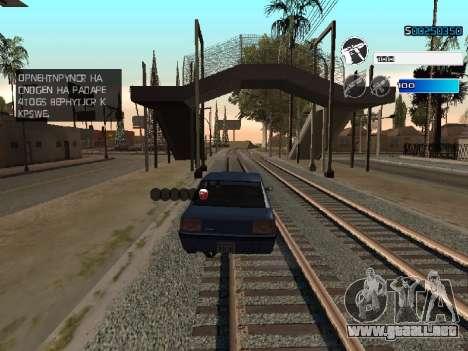 C-HUD by SampHack v.22 para GTA San Andreas sucesivamente de pantalla
