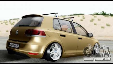 Volkswagen Golf 6 para GTA San Andreas left
