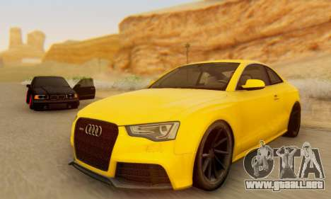 Audi RS5 (RC) para GTA San Andreas vista posterior izquierda