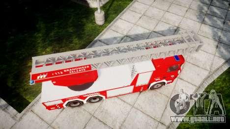 Scania R580 Belgian Fireladder [ELS] para GTA 4 visión correcta