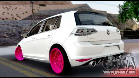 Volkswagen Golf 7 para GTA San Andreas left