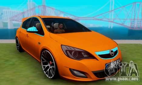 Opel Astra J Team para GTA San Andreas vista posterior izquierda