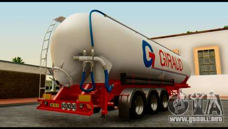 Mercedes-Benz Actros Trailer Giraud para GTA San Andreas left