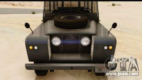 Land Rover Series IIa LWB Wagon 1962-1971 [IVF] para la visión correcta GTA San Andreas
