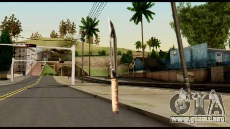 Survival Knife from Metal Gear Solid para GTA San Andreas segunda pantalla