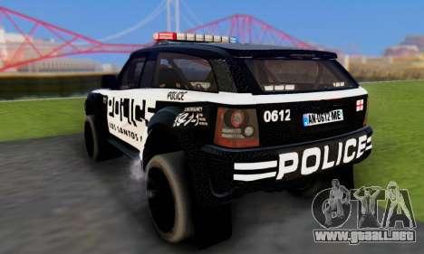 Bowler EXR S 2012 v1.0 Police para visión interna GTA San Andreas