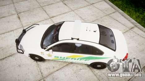 Chevrolet Impala Martin County Sheriff [ELS] para GTA 4 visión correcta